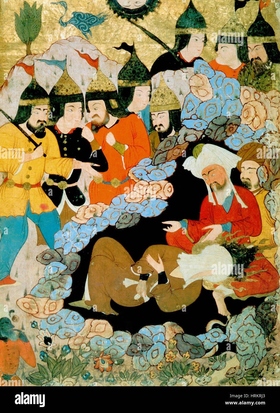 Muhammad and Abu Bakr, 17th Century - Stock Image