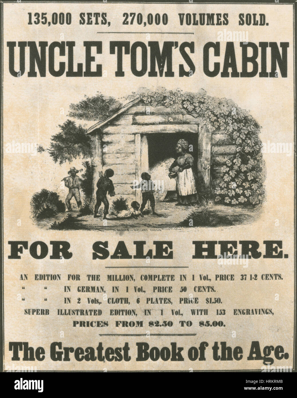 Uncle Tom's Cabin Poster - Stock Image