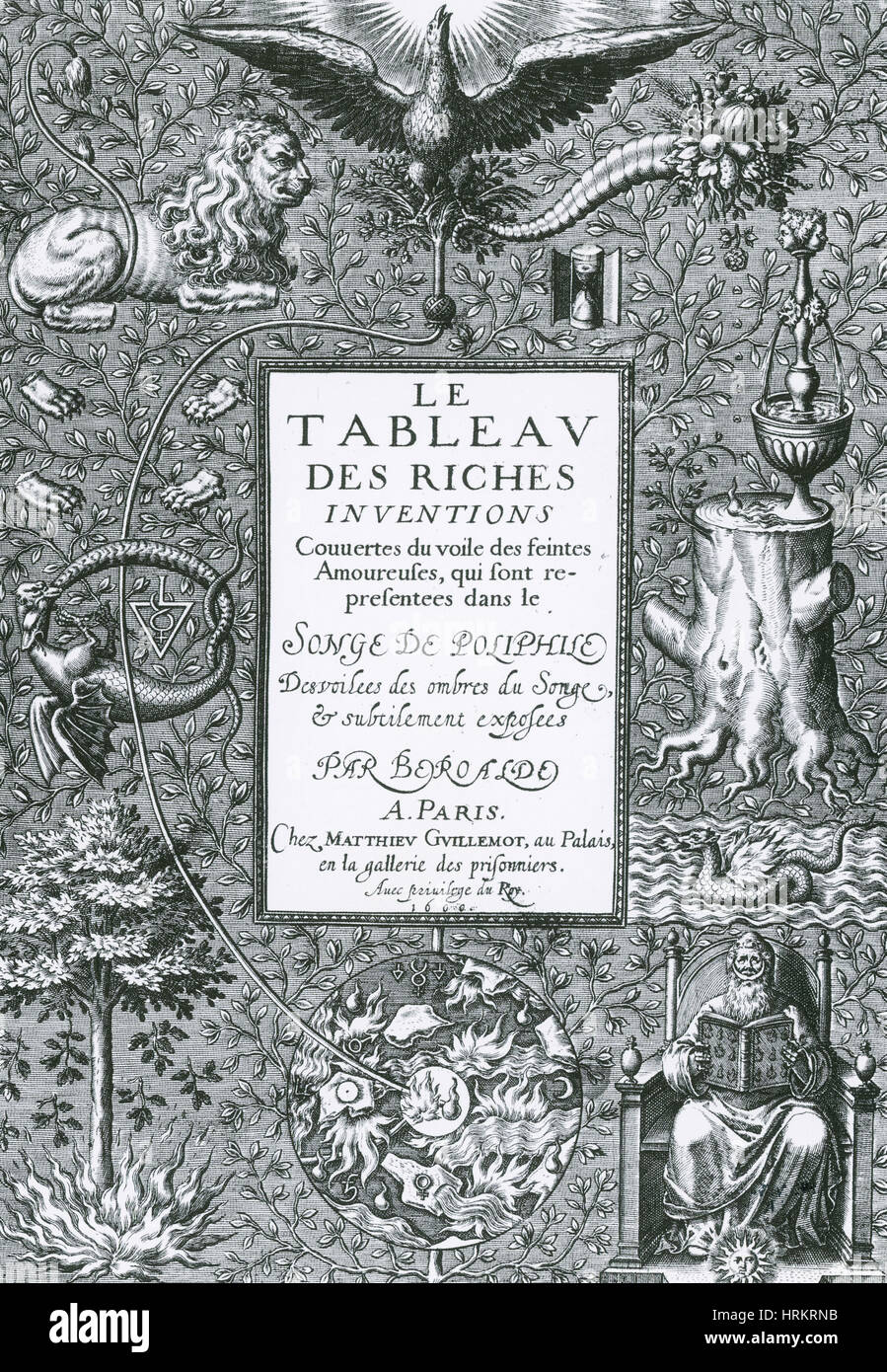 Frontispiece of Alchemical Treatise - Stock Image