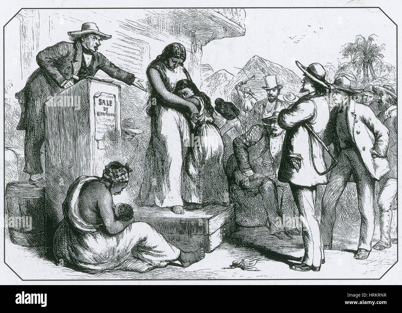 Slave Auction - Stock Image