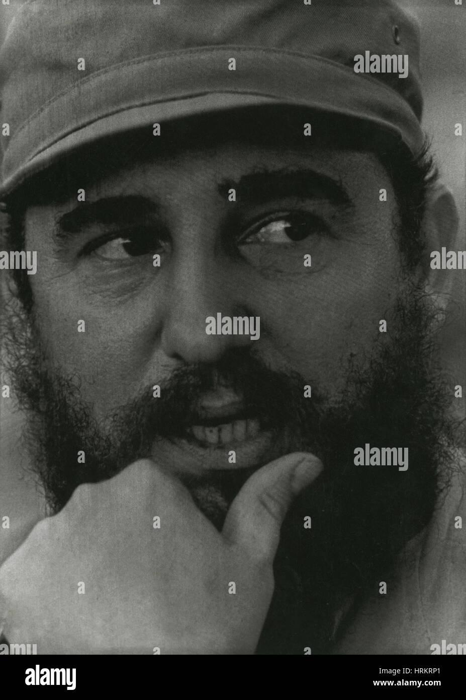 Fidel Castro, Cuban Revolutionary - Stock Image