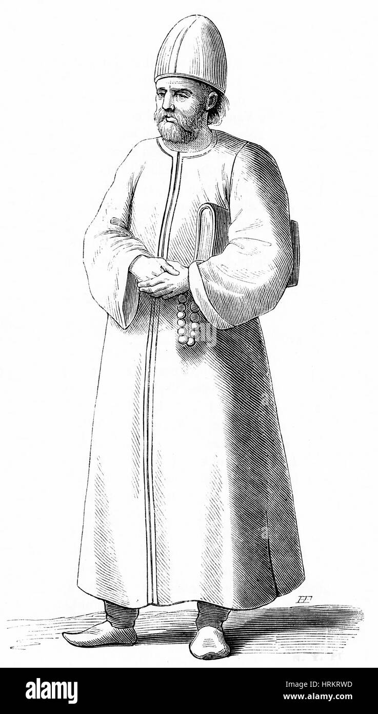 17th century Turkish Imam - Stock Image