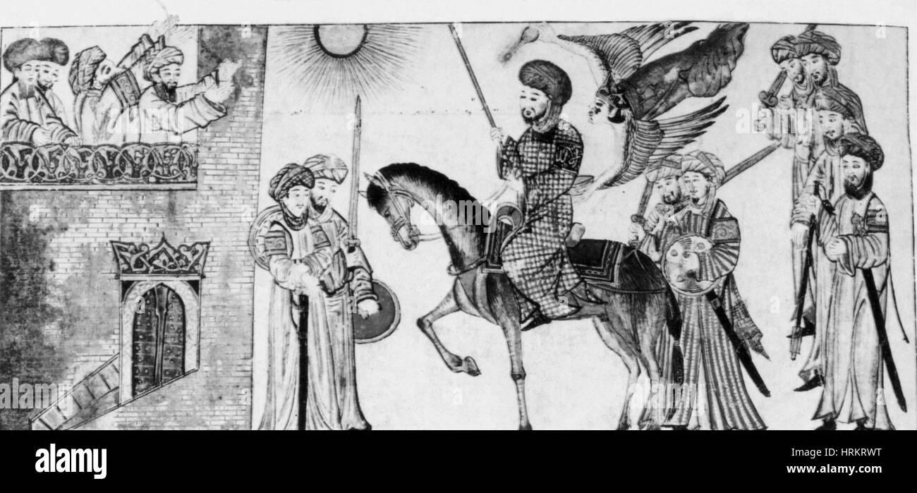 Banu Qurayza Surrendering to Muhammad - Stock Image