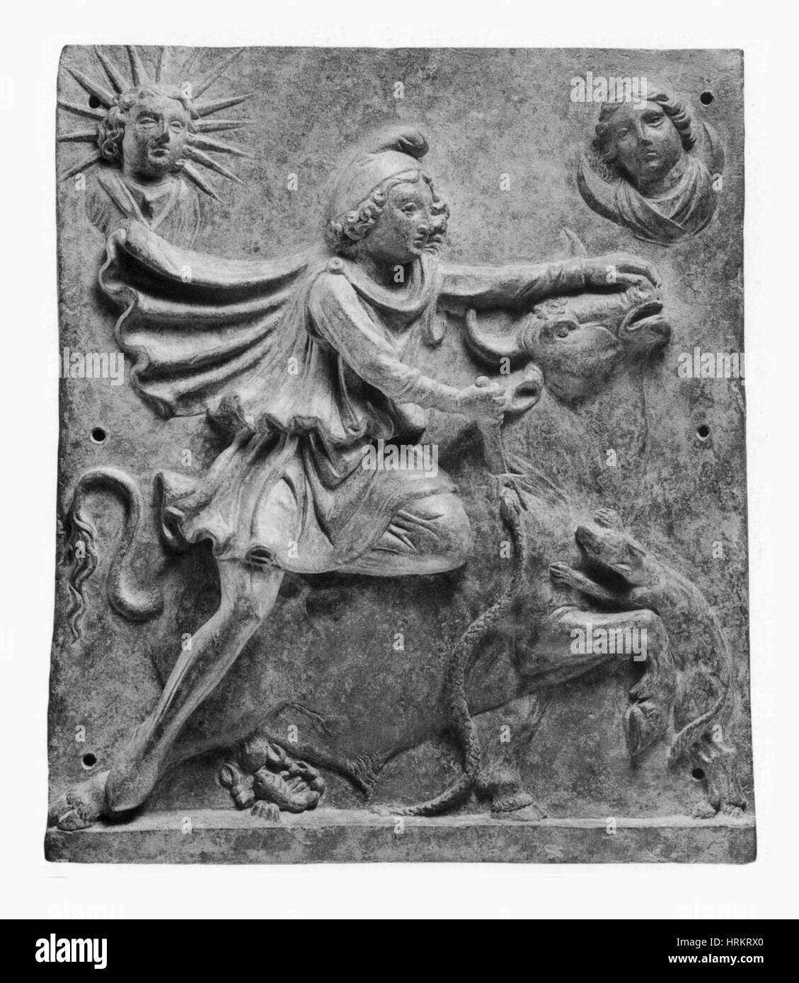 Mithras Slaying the Great Bull - Stock Image