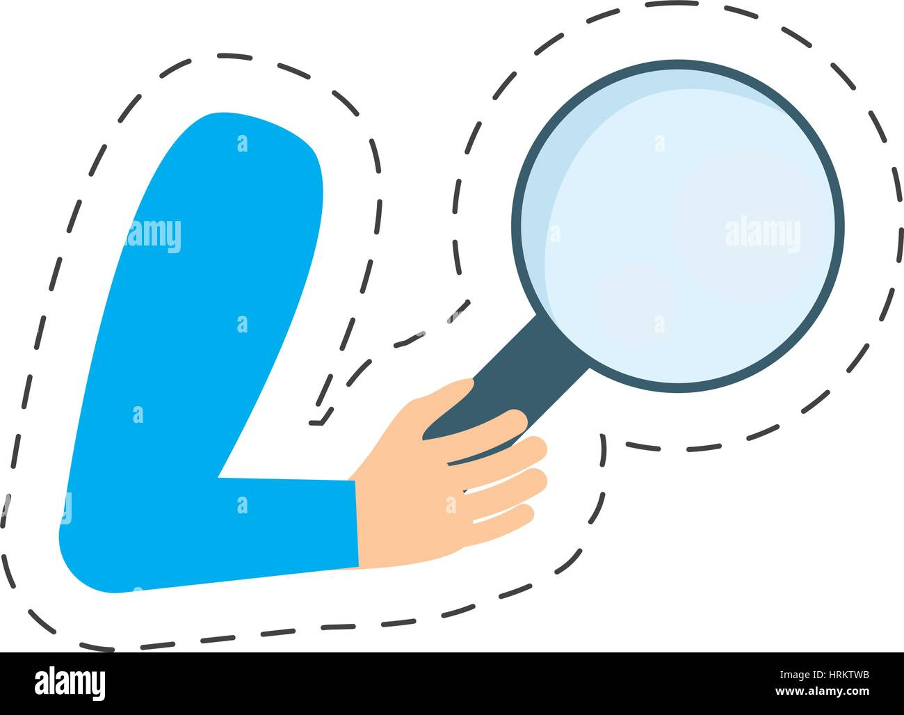 hand holding search delivery - Stock Vector