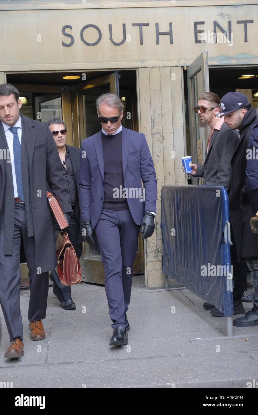 Lloyd Klein attends a Manhattan Court for the case against Jocelyn Wildenstein  Featuring: Lloyd Klein Where: Manhattan, Stock Photo
