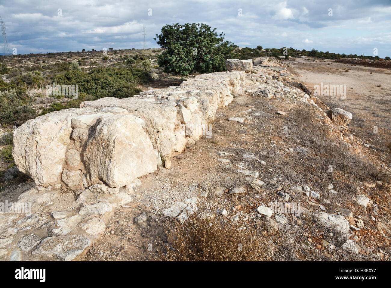 The stadium - the remains of a Roman hippodrome, Kourion, Cyprus Stock Photo