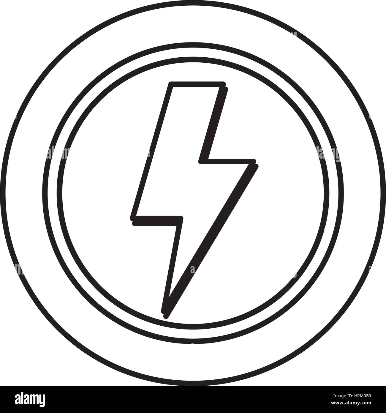Ray electricity symbol Stock Vector Art & Illustration, Vector Image ...