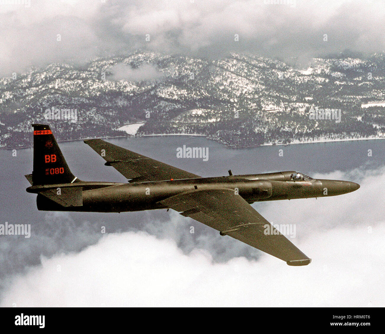 LOCKHEED U-2 reconnaissance aircraft. Photo: USAAF - Stock Image