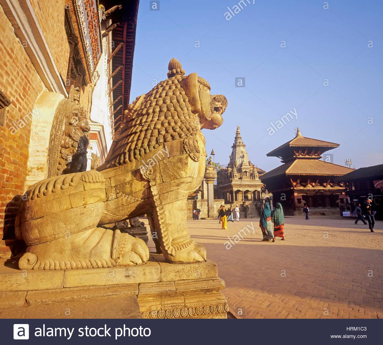 Durban Square, Bhaktapur, Nepal, Asia - Stock Image