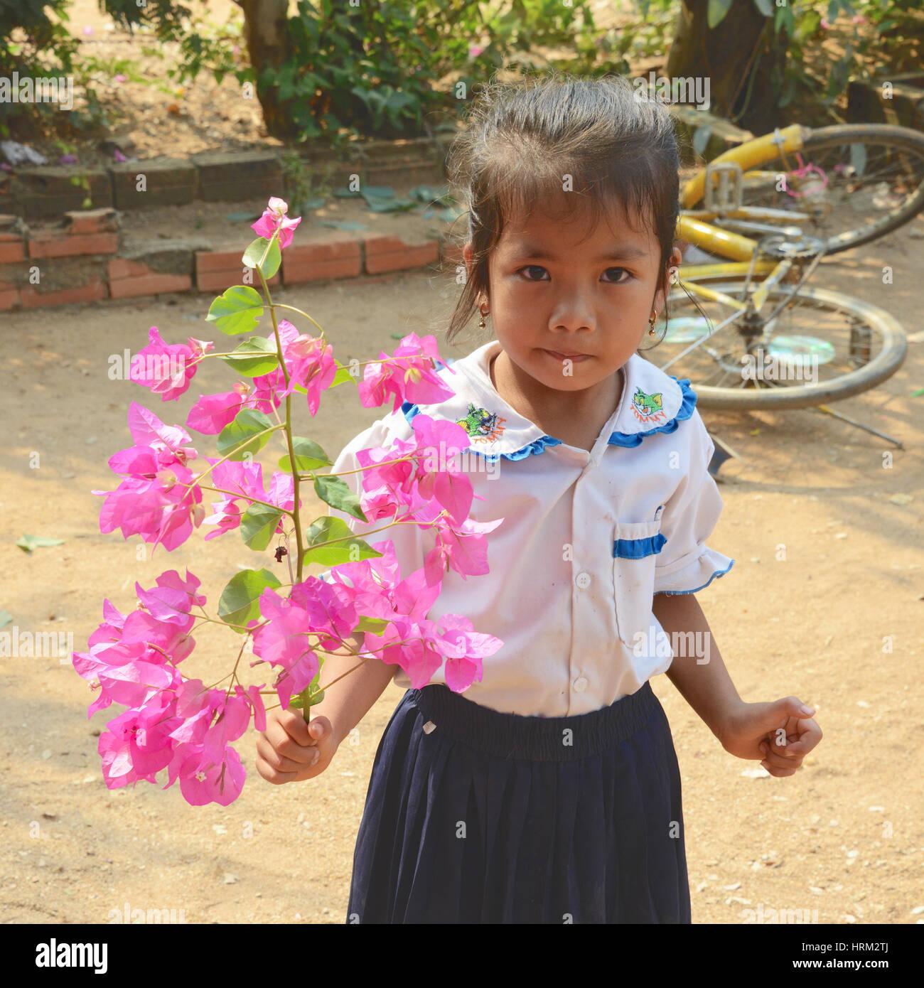 Child of Cambodia - Stock Image