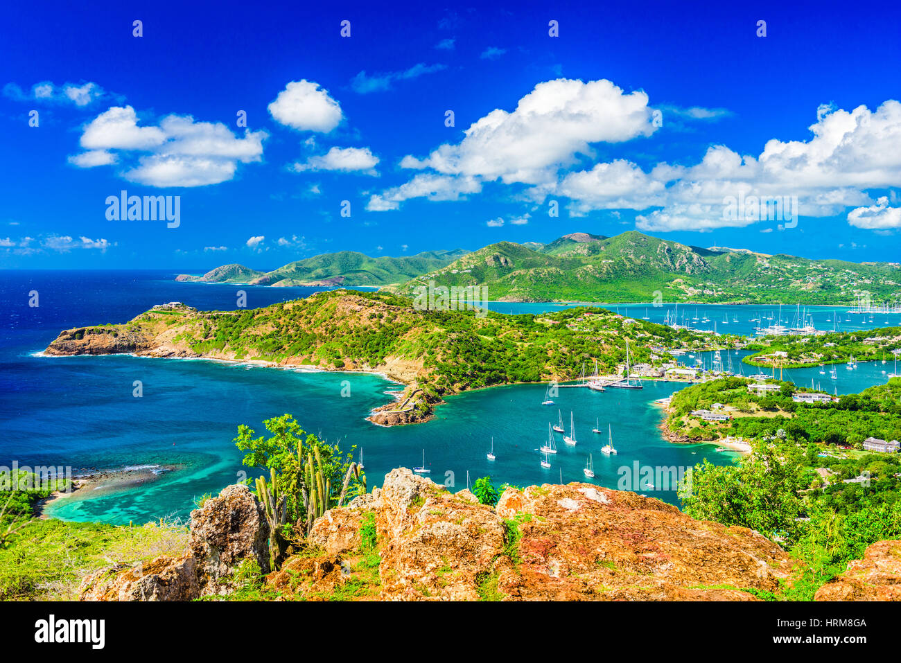 Shirley Heights, Antigua view. - Stock Image