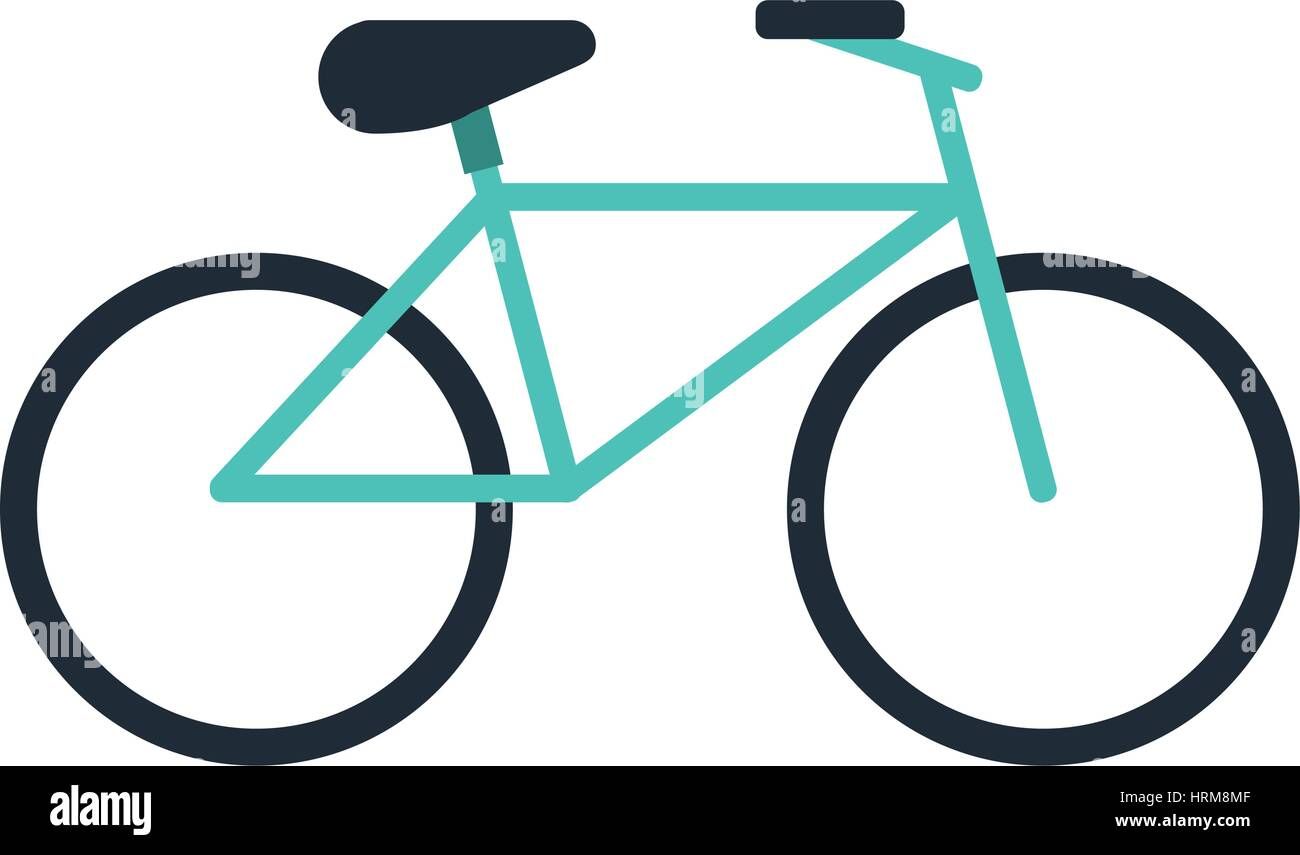 bicycle recreation transport icon - Stock Image
