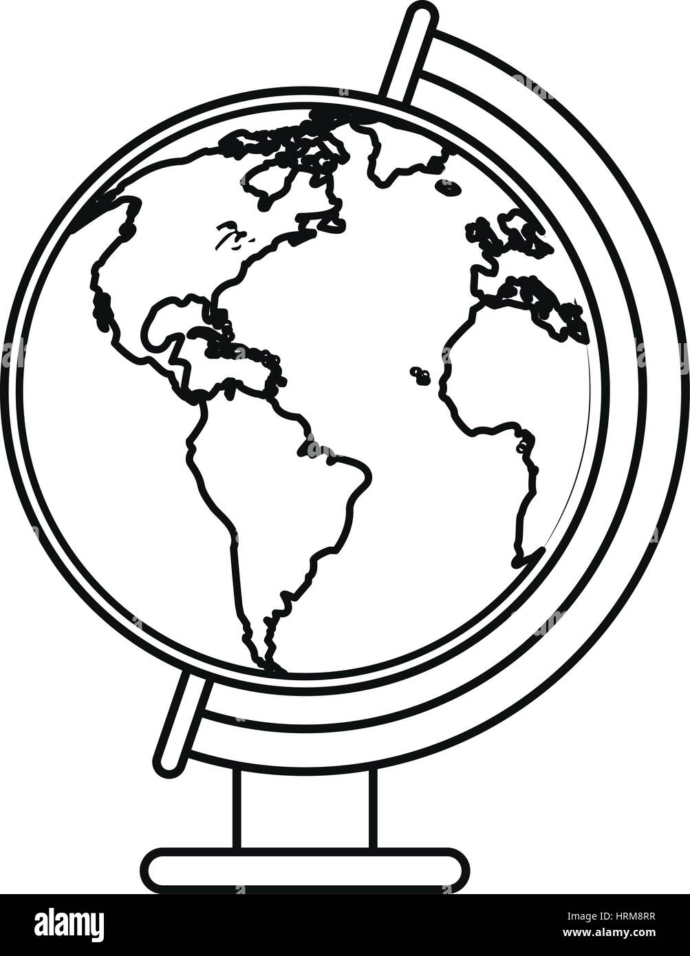 Line drawing world map stock photos line drawing world map stock globe world map thin line stock image gumiabroncs Choice Image