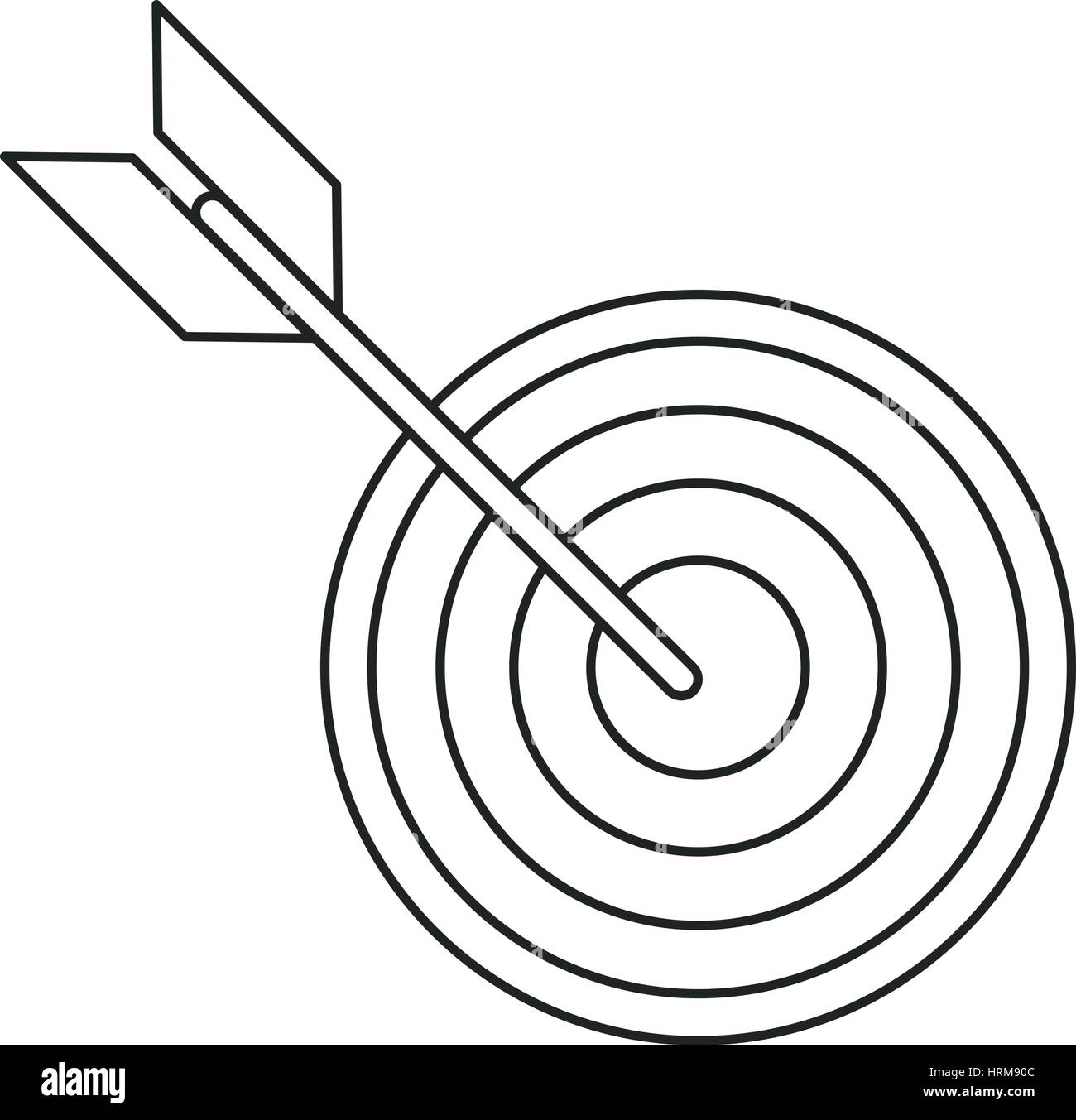 target arrow strategy market thin line Stock Vector