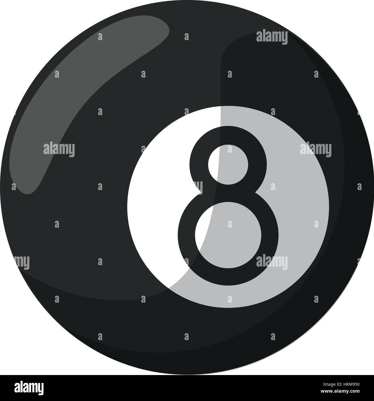 billiard ball  eight - Stock Vector