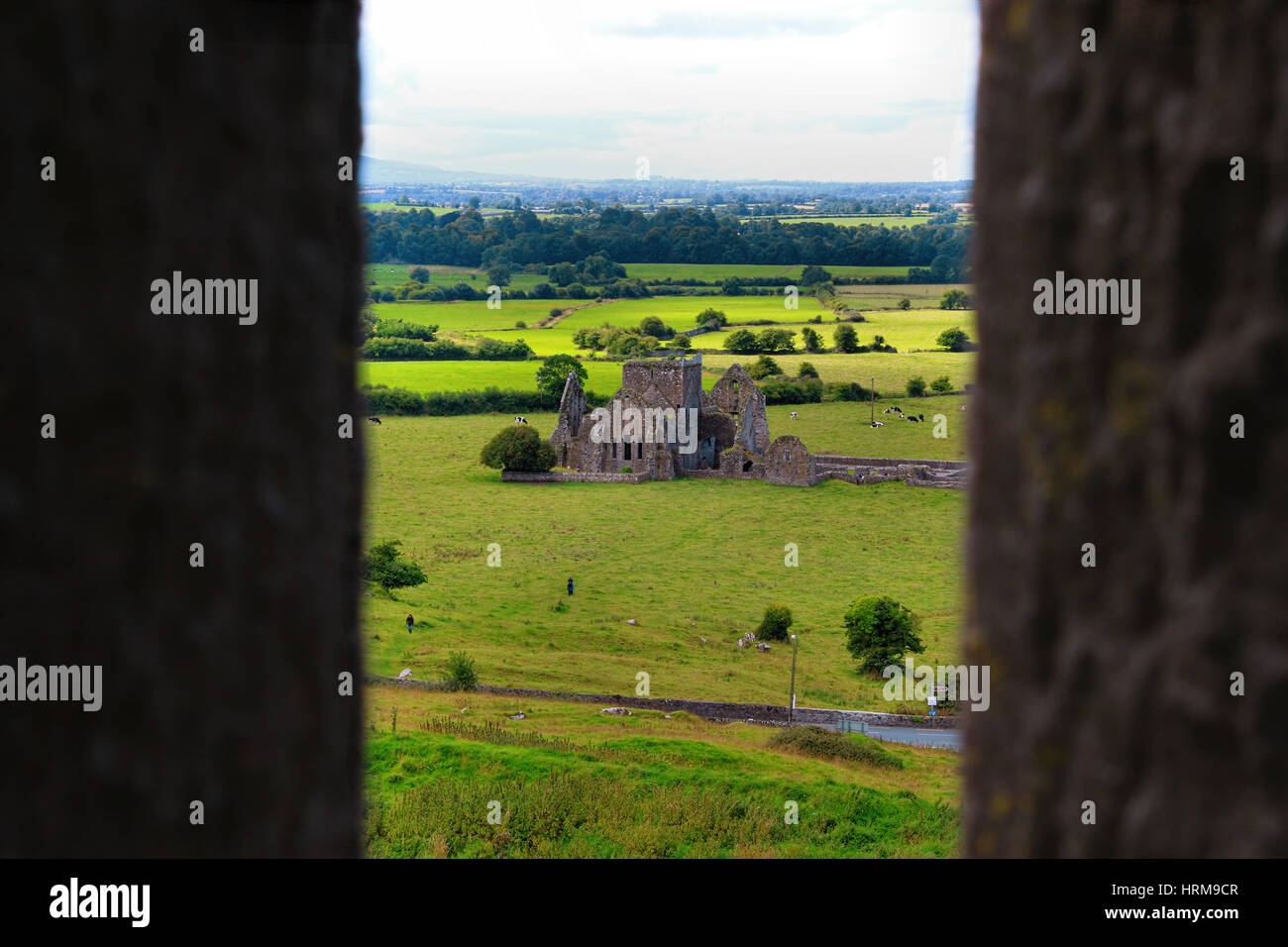 The Rock of Cashel, also known as Cashel of the Kings and St. Patrick's Rock, is a historic site near the village - Stock Image