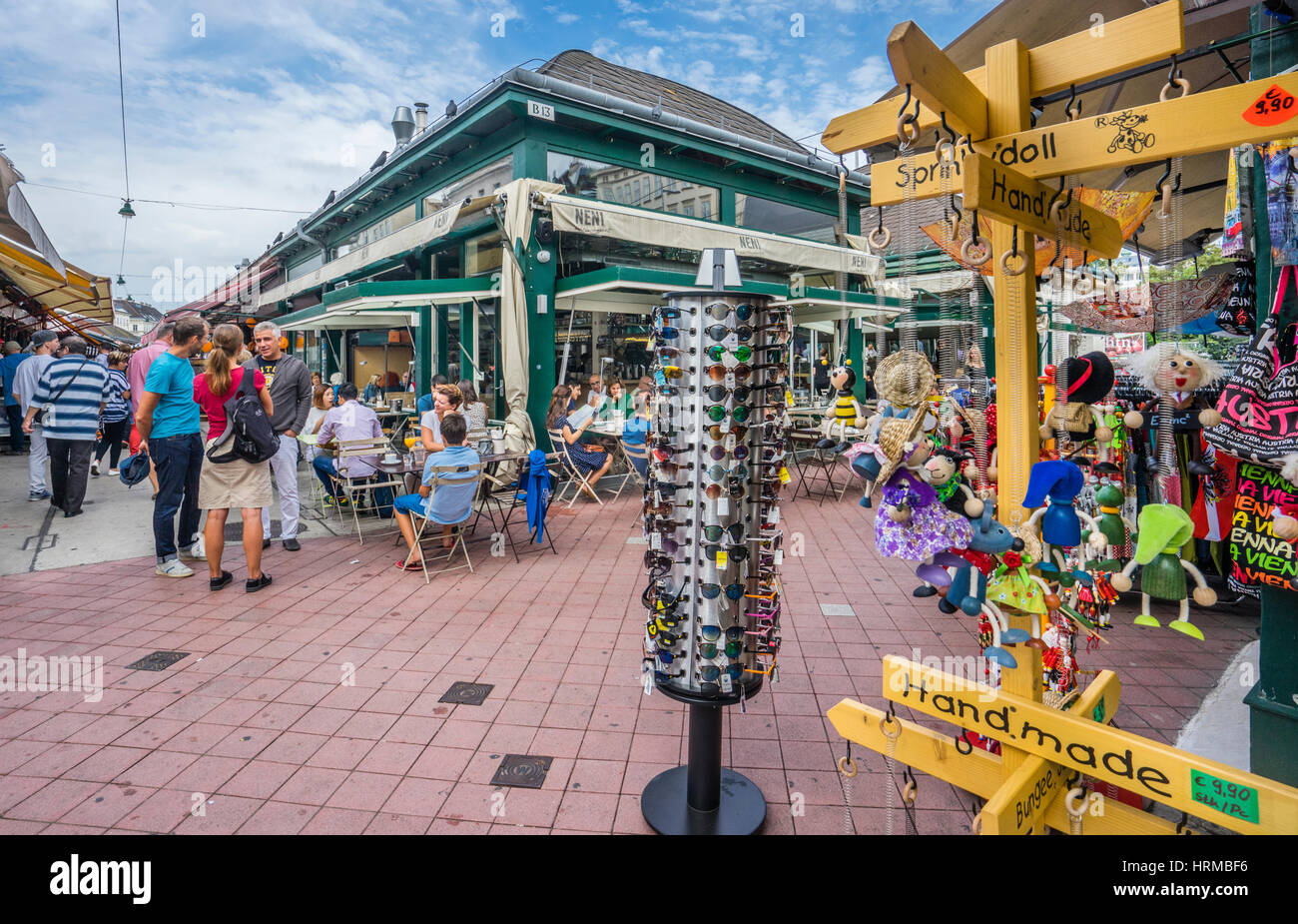 Austria, Vienna, cafe at Naschmarkt, Vienna's most popular market, - Stock Image