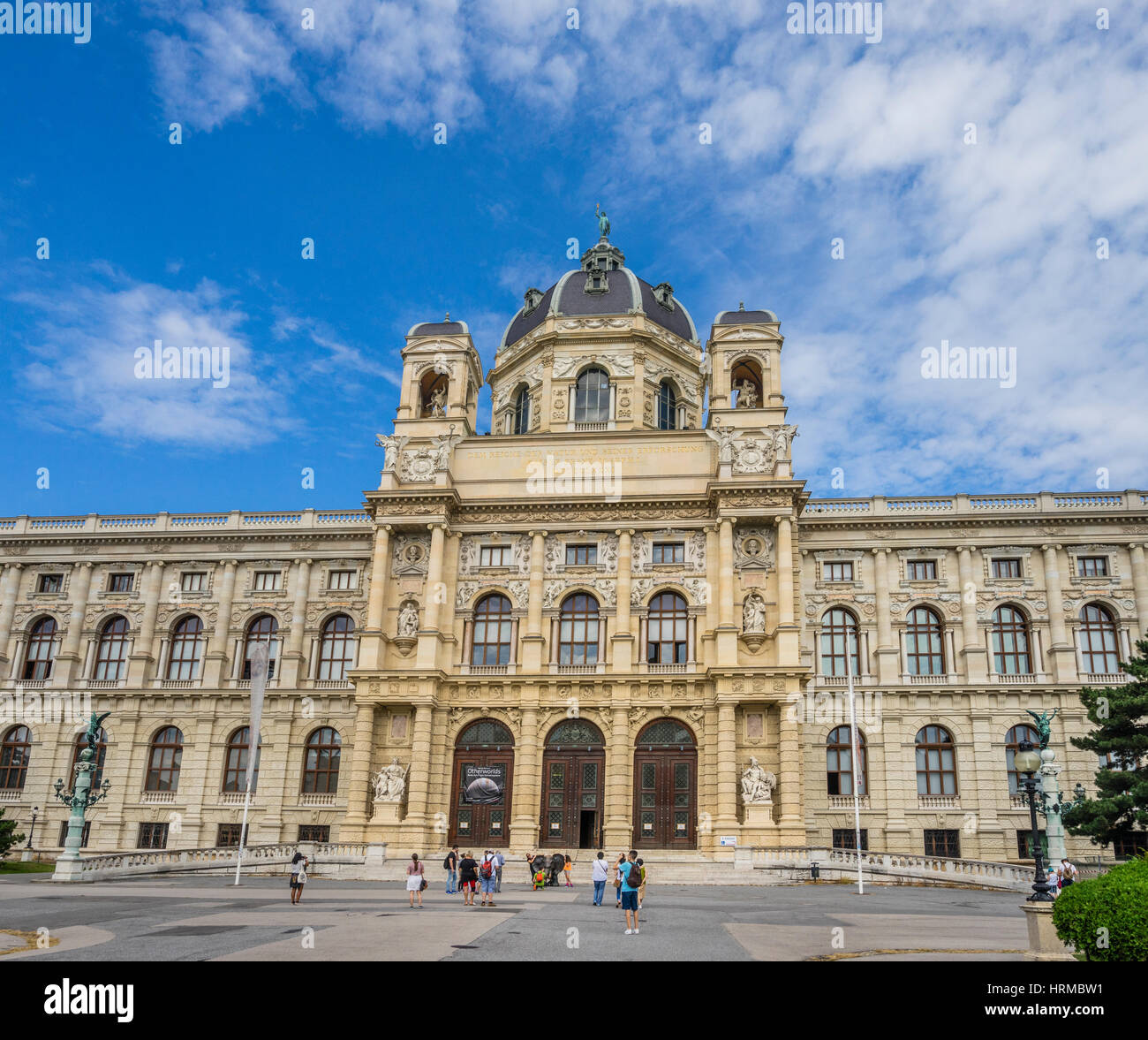 Austria, Vienna, Maria-Theresien-Platz, portal of the Museum of Natural History - Stock Image
