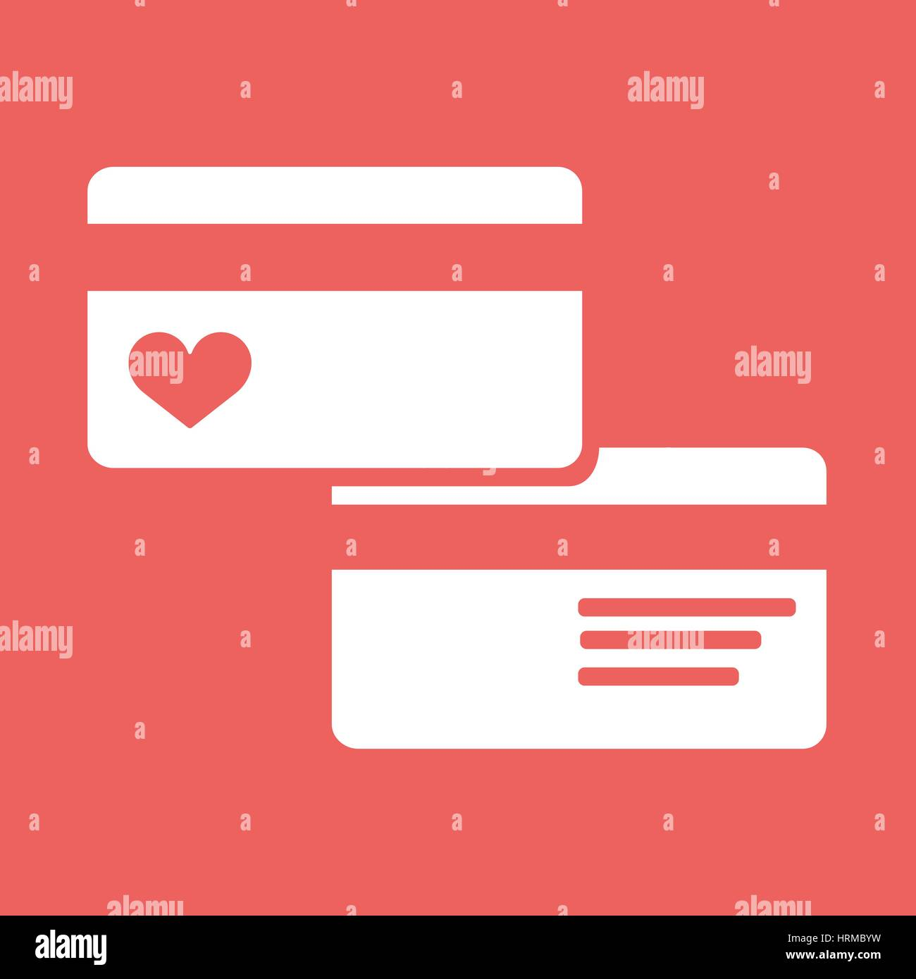 Credit Card pictograph flat icon - Stock Image