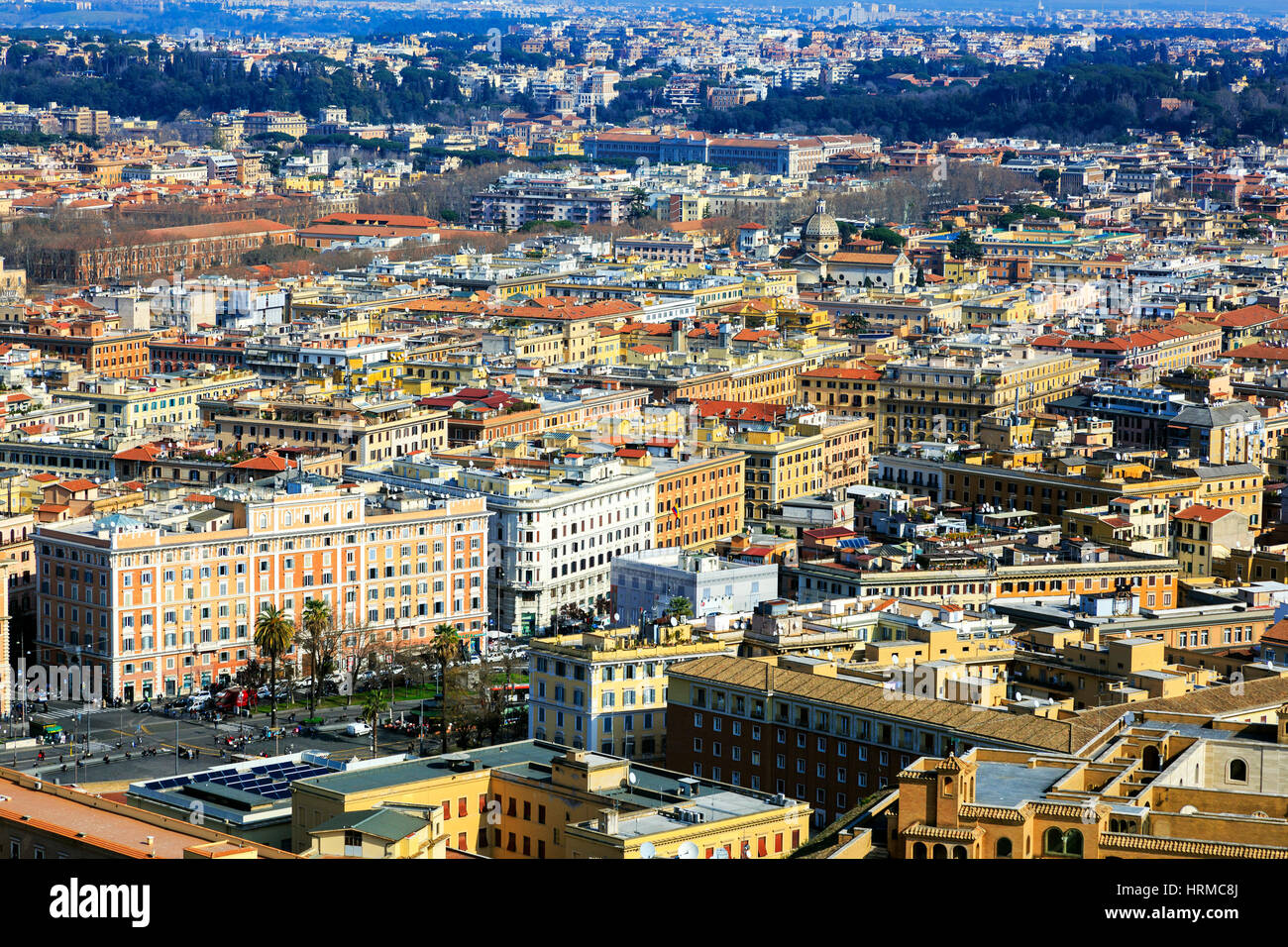 Rome skyline and city centre, Italy - Stock Image