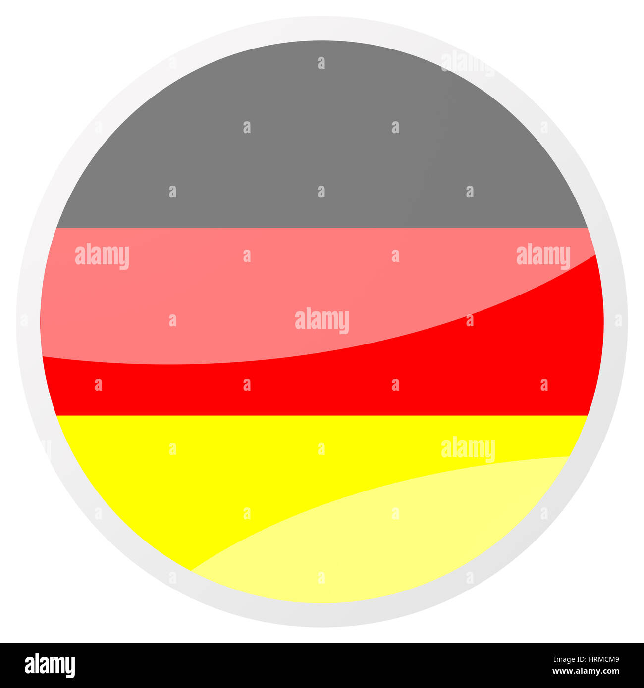 german round aqua button - Stock Image
