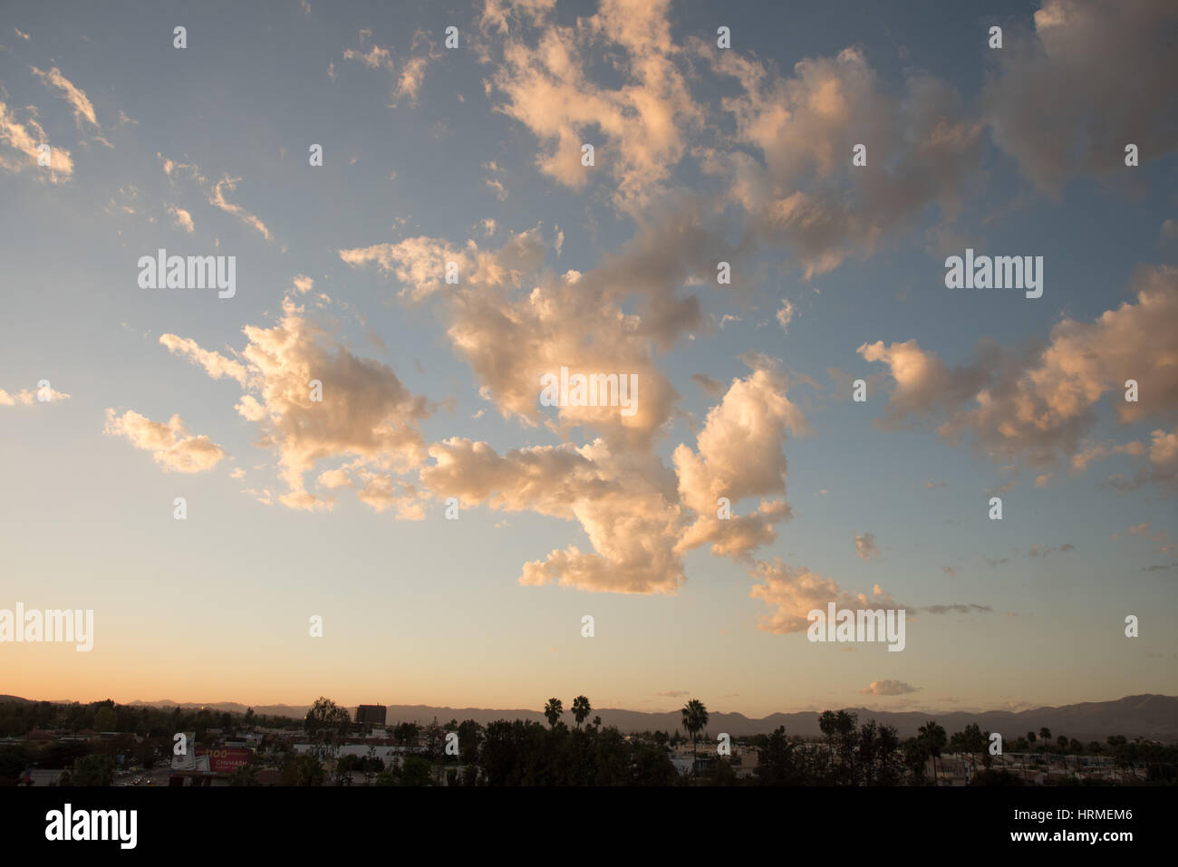Beautiful clouds as sunset - Stock Image