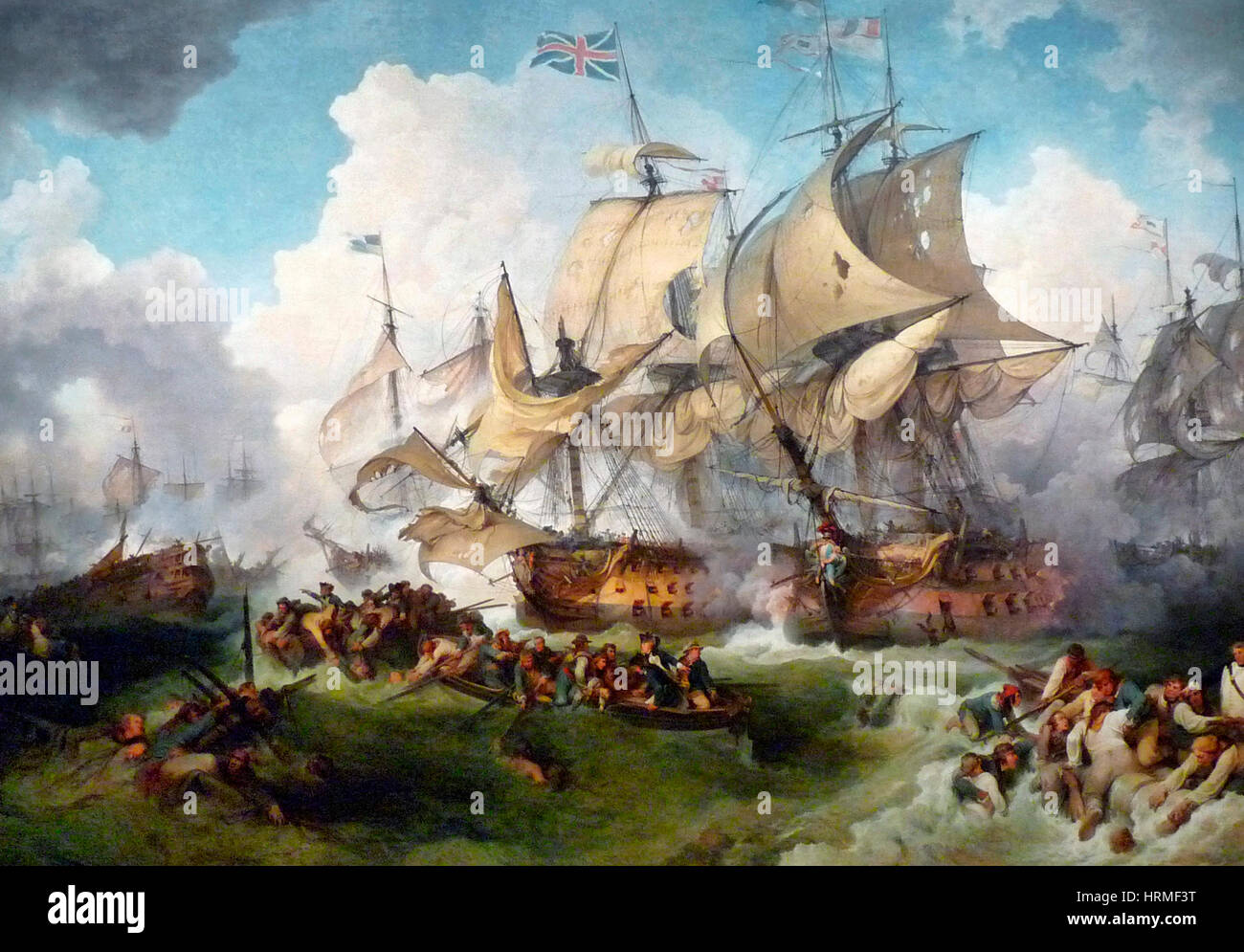 The Glorious First of June, 1794 - The Victory of Lord Howe - Philip James de Loutherbourg - Stock Image