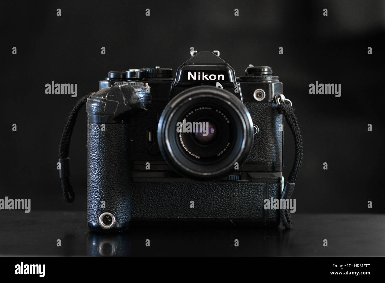 Vintage Nikon film camera FE - Stock Image