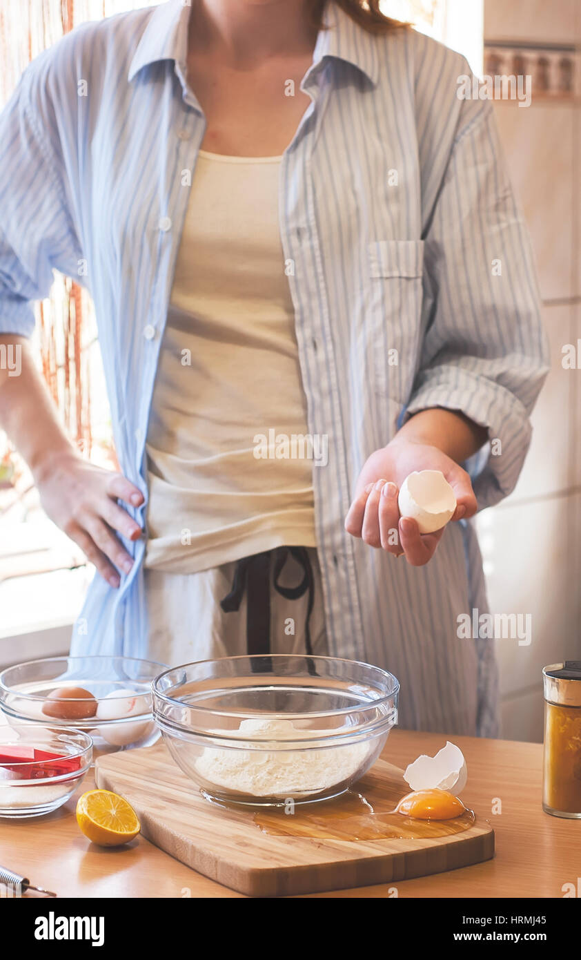 Bad cooking, kitchen disasters, spilled egg Stock Photo: 135062933 ...