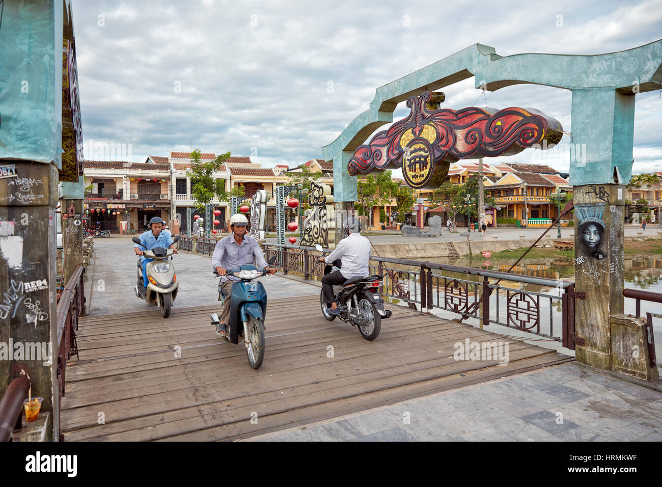 Cau An Hoi Bridge. Hoi An Ancient Town, Quang Nam Province, Vietnam. - Stock Image