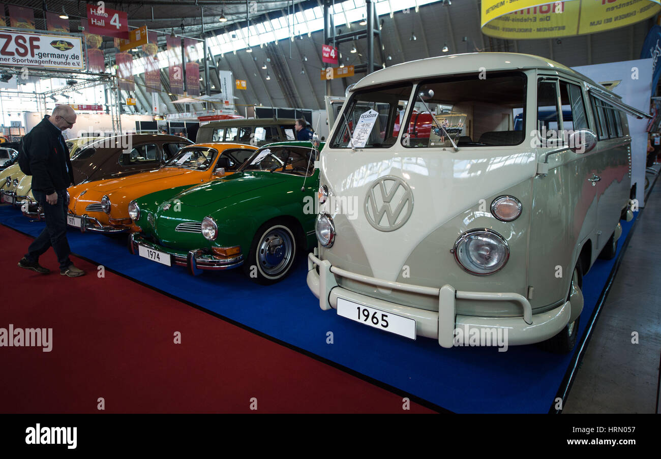 Stuttgart, Germany. 02nd Mar, 2017. Vintage cars at a classic cars ...