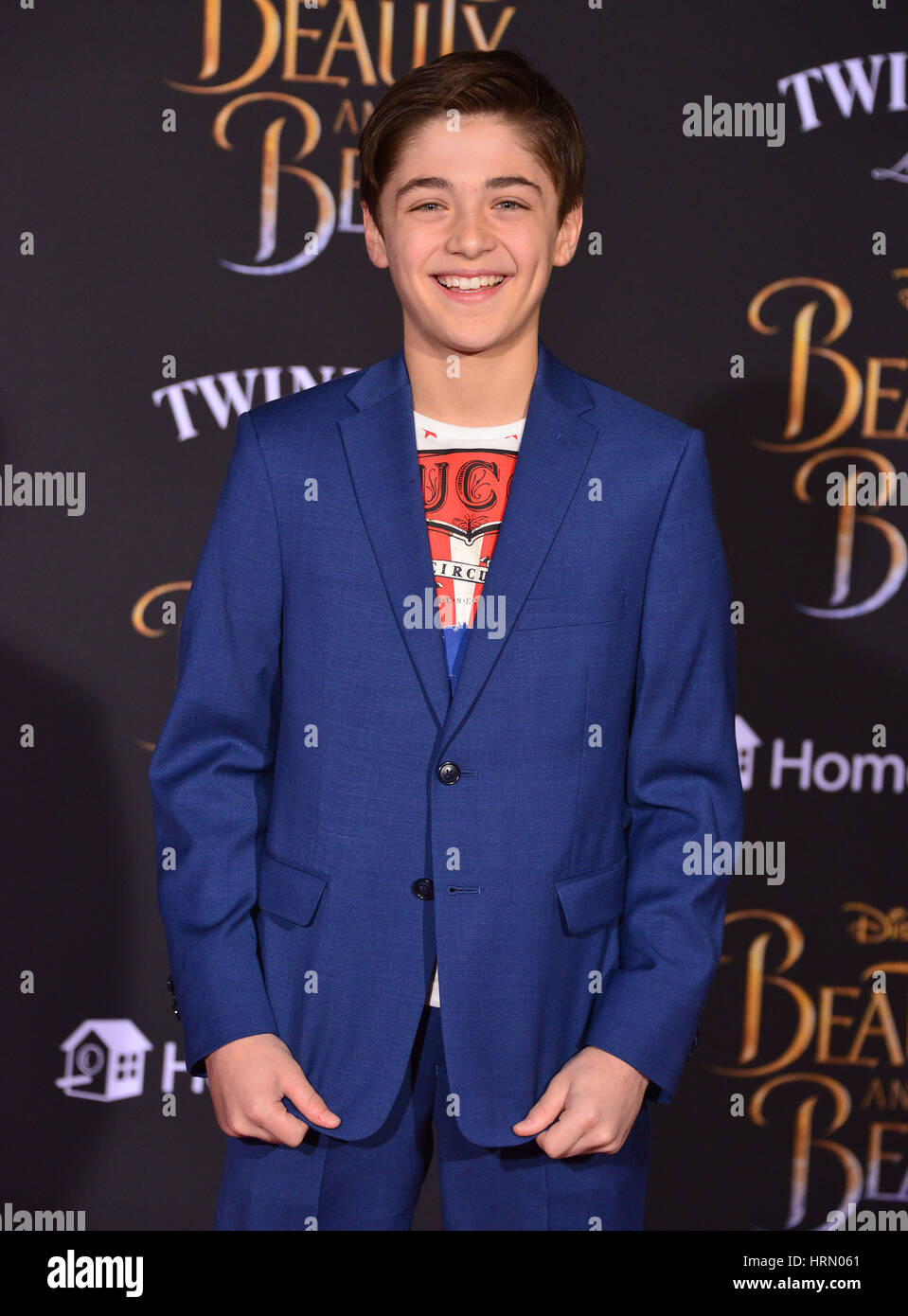 Los Angeles, USA. 02nd Mar, 2017. Peyton Elizabeth Lee at the  Disney s 'Beauty and the Beast premiere at El - Stock Image
