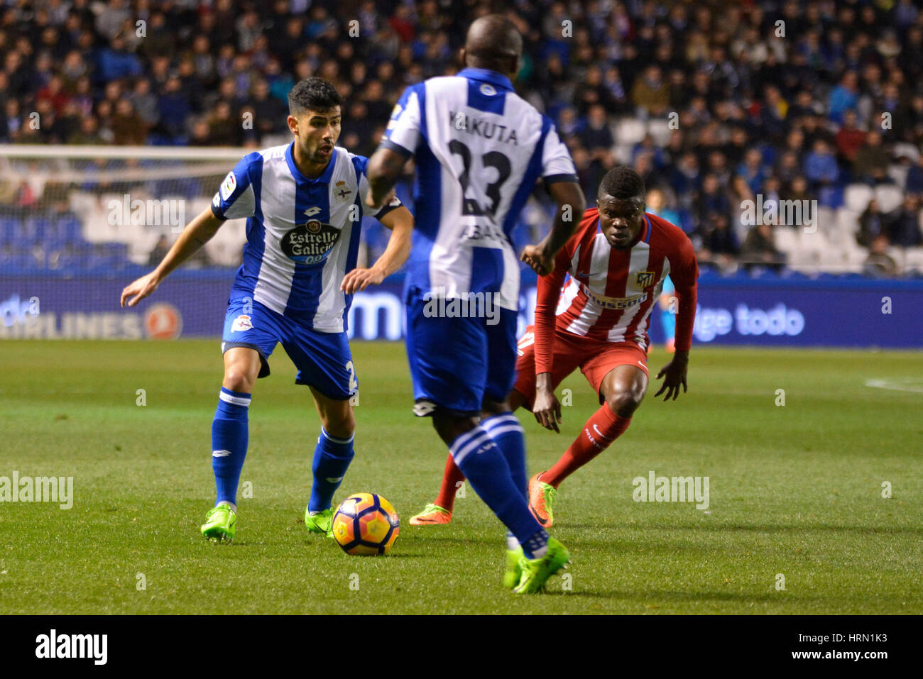 Riazor Stadium, La Coruna, Spain. 2nd March 2017. Juanfran. La Liga Santander Matchday 25. Riazor Stadium, La Coruna, - Stock Image