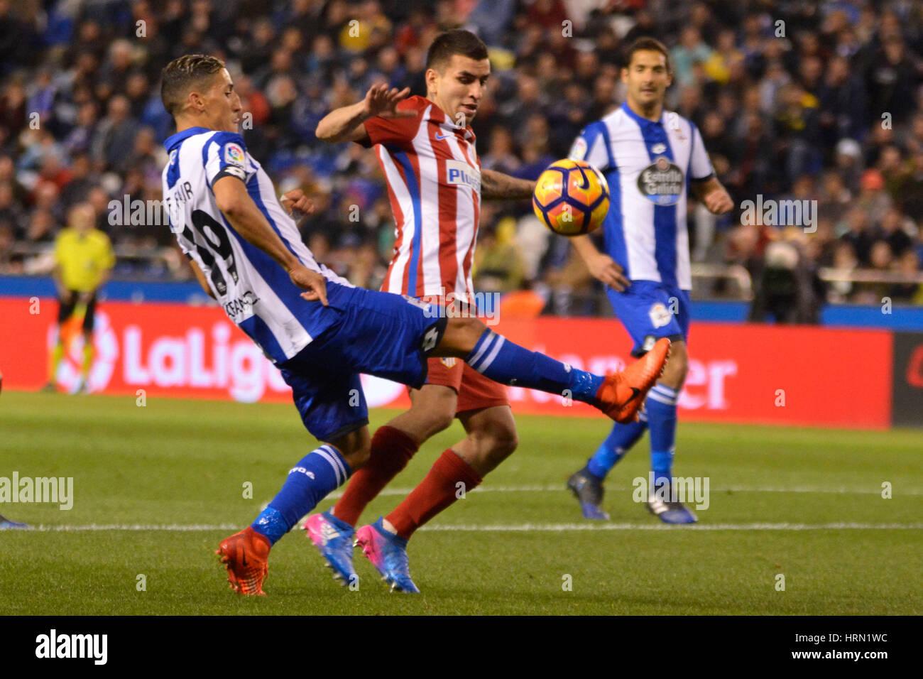 Riazor Stadium, La Coruna, Spain. 2nd March 2017. Fayçal. La Liga Santander Matchday 25. Riazor Stadium, La - Stock Image