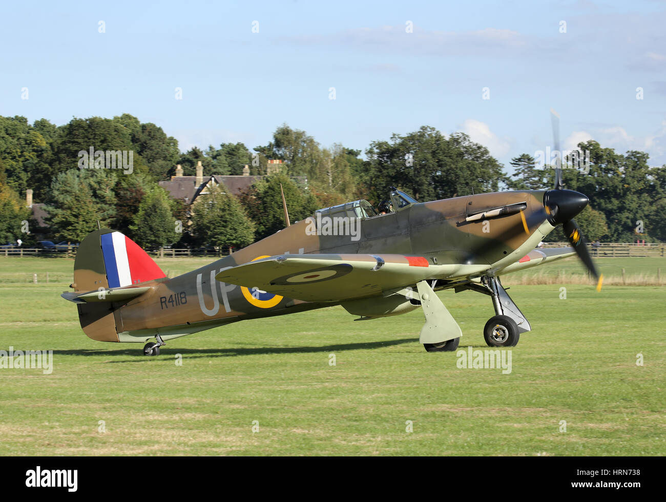The Shuttleworth Collection's last remaining airworthy Hawker Sea Hurricane. - Stock Image