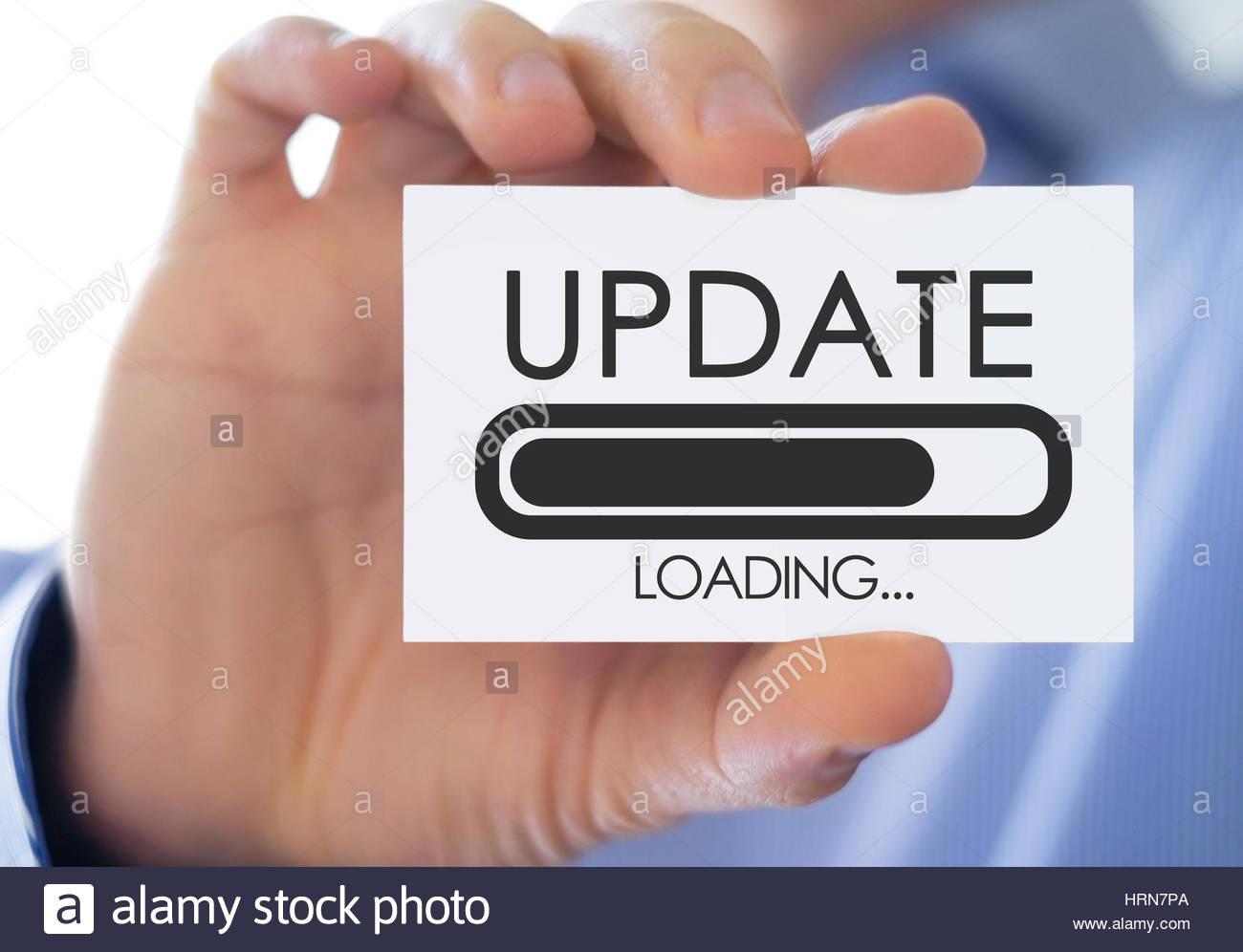 Update loading process - Stock Image