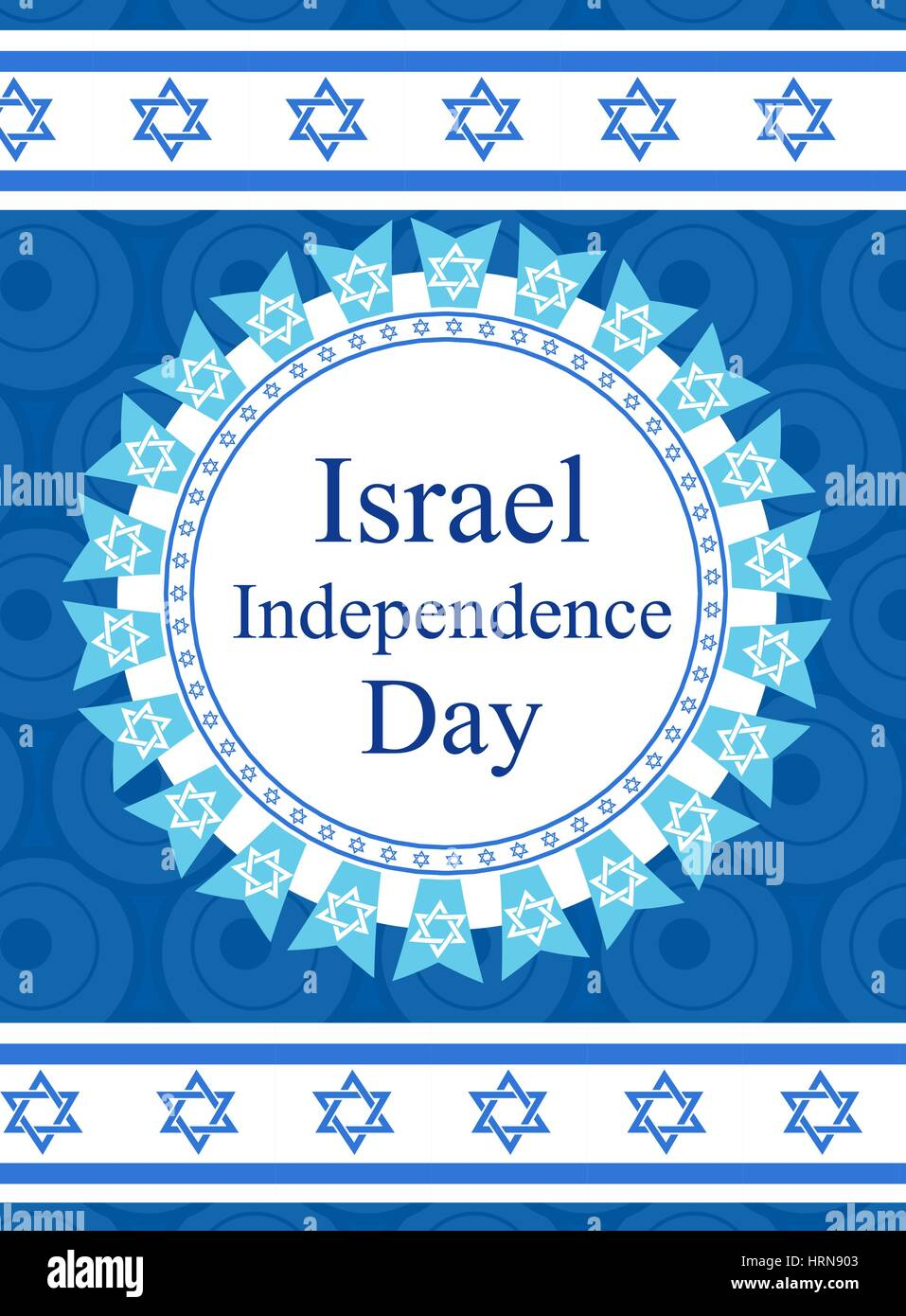 Happy Israel Independence Day Greeting Card Poster Flyer Invitation With The National Colors And Star Garland Flag Jewish Holidays Template For Your