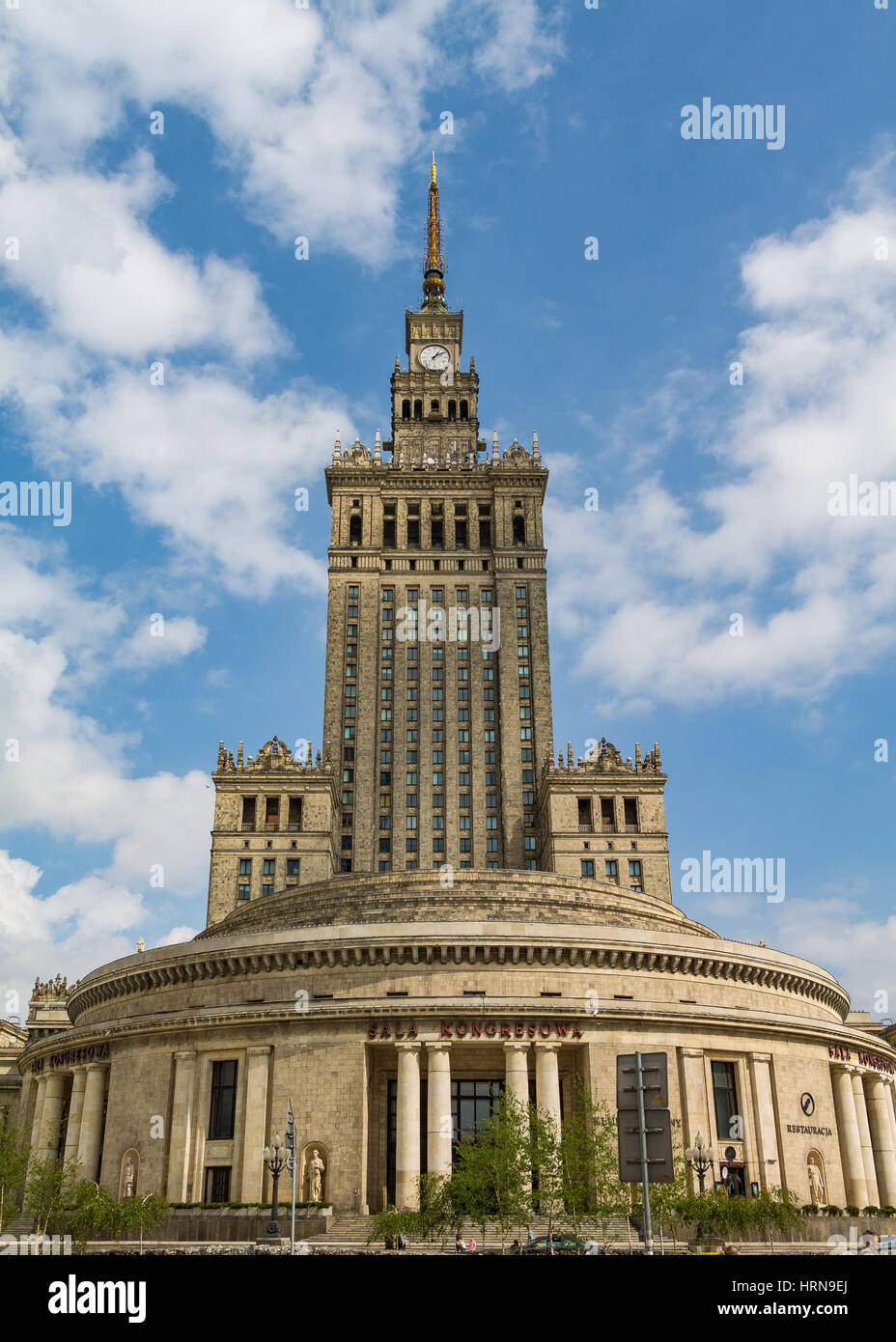 The Palace of Culture and Science in Warsaw, an example of Stalinist architecture - Stock Image