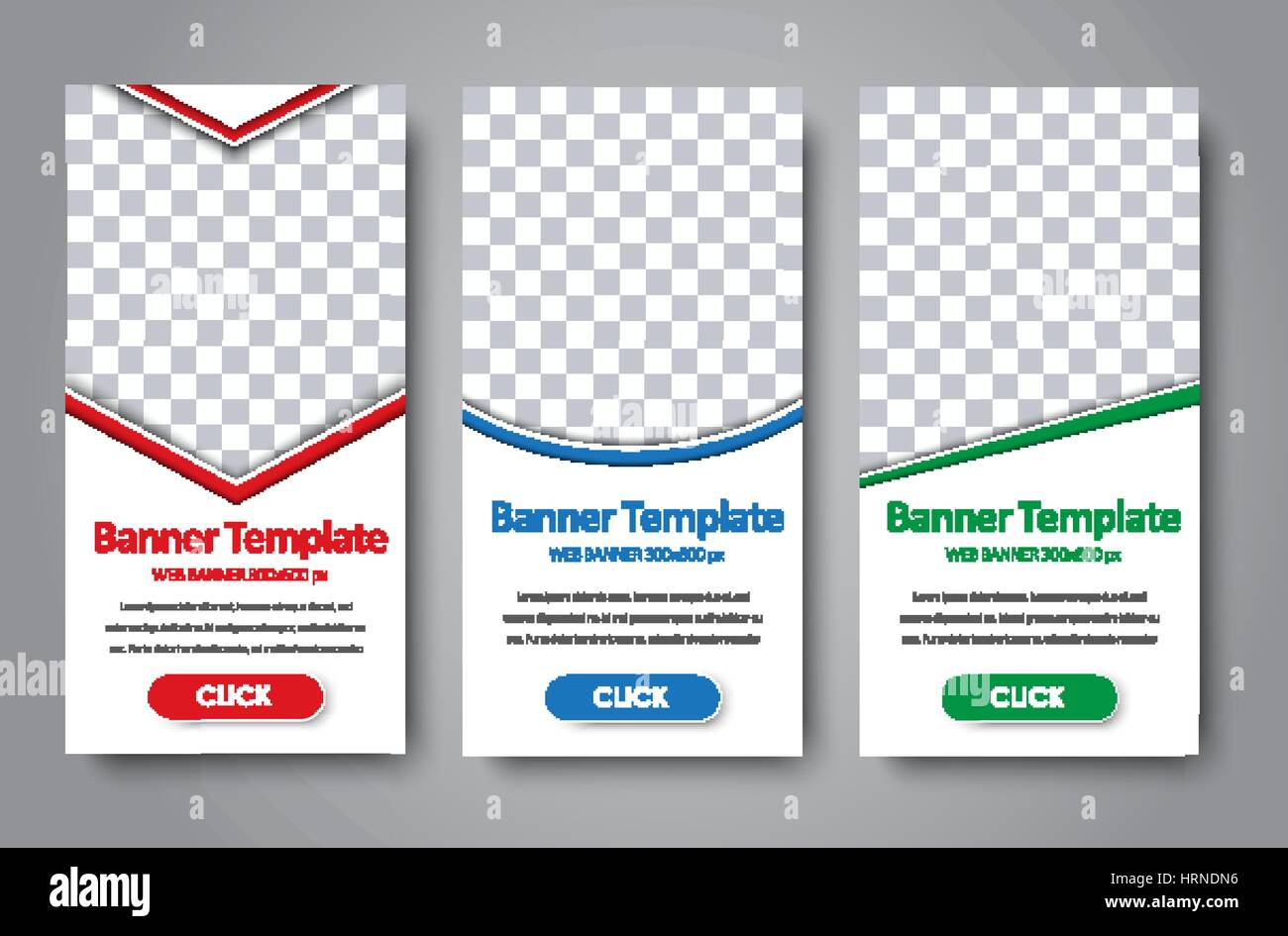 vertical design standard size web banner with diagonal