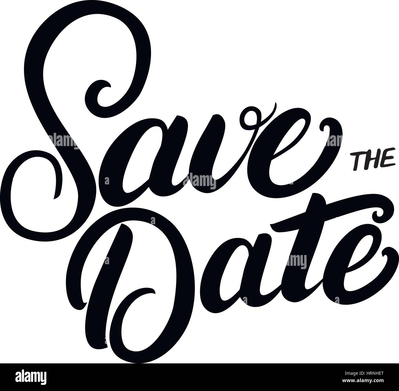 Save the date hand written lettering quote for wedding invitations ...
