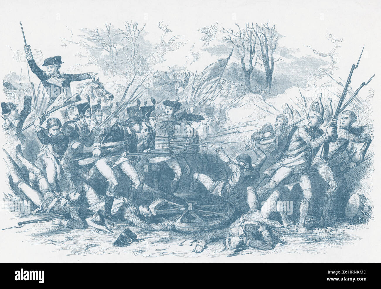 Battle of the Cowpens, 1781 - Stock Image