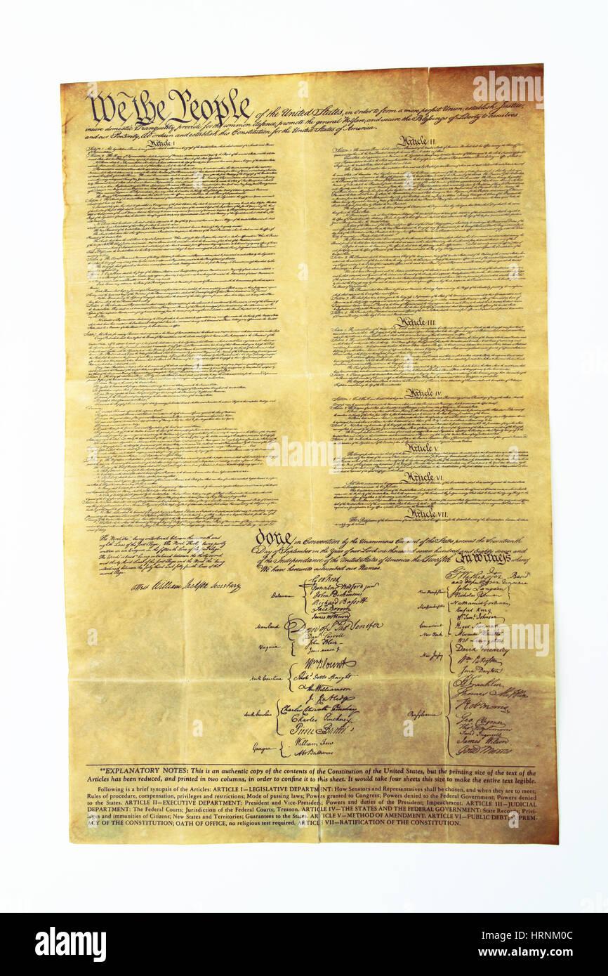 U.S Constitution - Stock Image