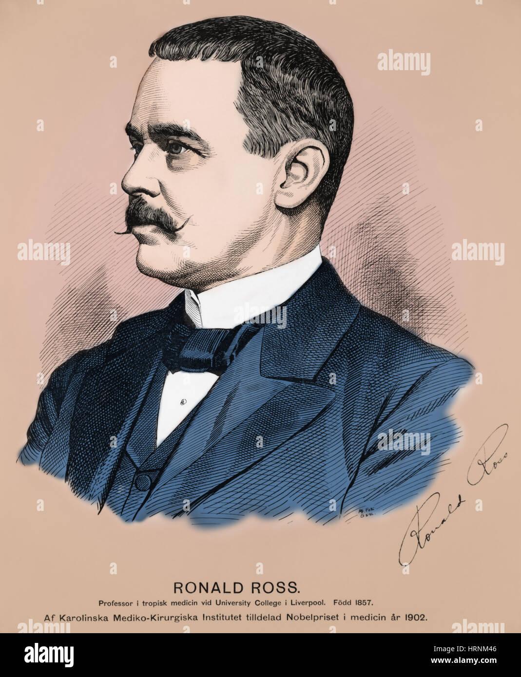Ronald Ross, British Physician - Stock Image