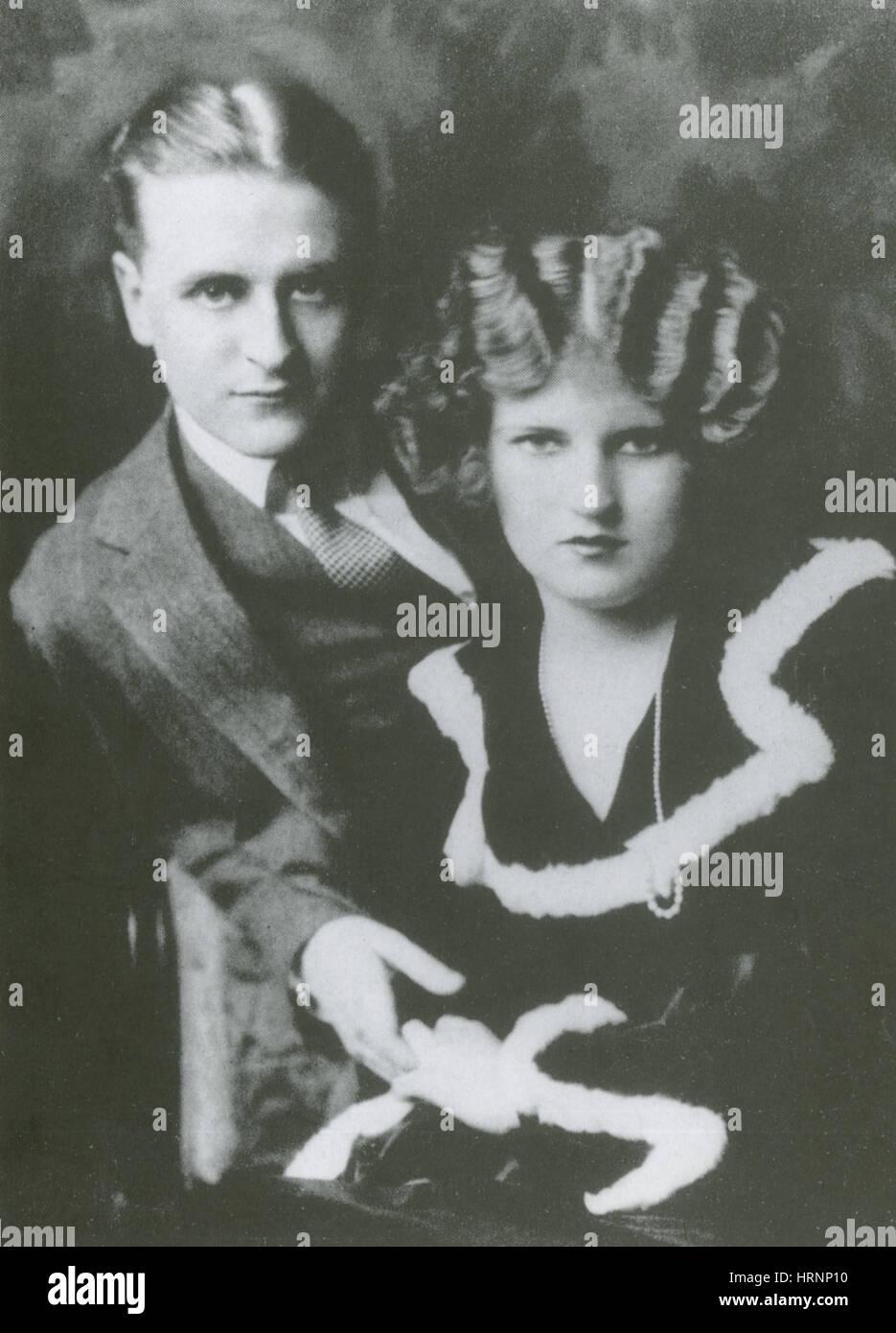 F. Scott and Zelda Fitzgerald, 1923 - Stock Image