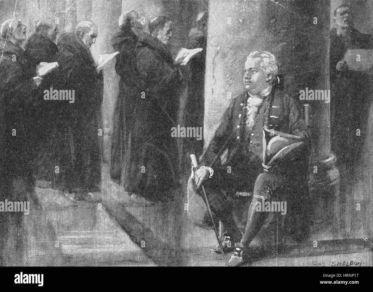 Edward Gibbon, English Historian - Stock Image