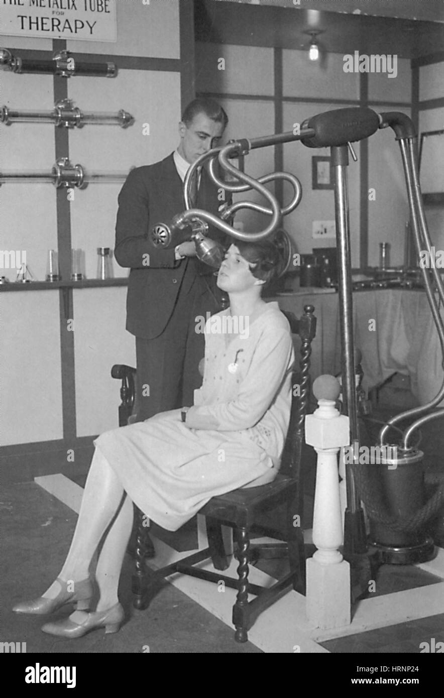 The Metalix Tube For Therapy, 1928 - Stock Image
