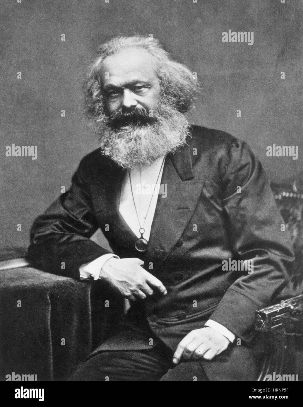 Karl Heinrich Marx, German Polymath - Stock Image