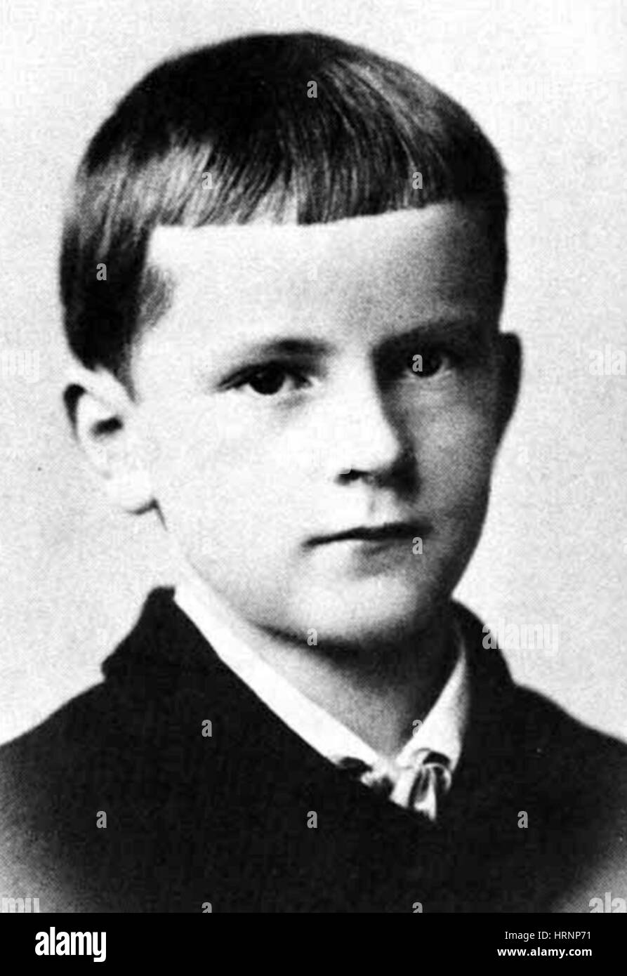 Young Carl Jung, 1870s - Stock Image