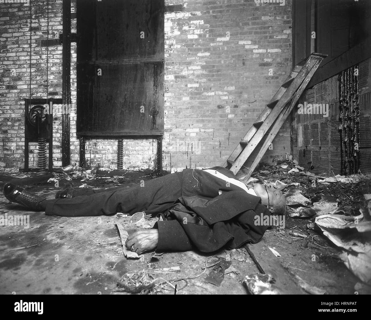 Crime Scene, NYC, Early 20th Century - Stock Image